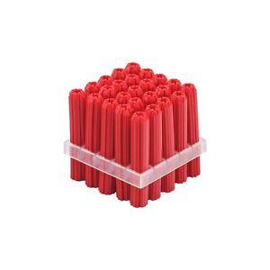 Qty 50 Red Wall Plug 38mm x 6mm Anchor Fixing Star Plastic Masonry Wallplug