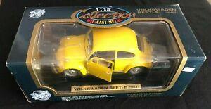 Road Tough 1/18 #92078 -1967 VOLKSWAGEN BEETLE - Yellow -VW BUG