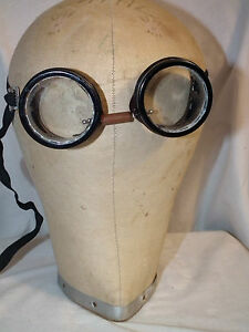 255492deab5 Image is loading VINTAGE-SAFETY-MOTORCYCLE-STEAMPUNK-GOGGLES-GLASSES