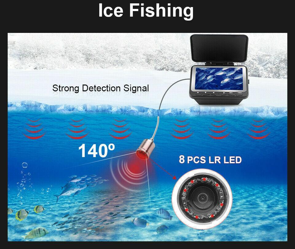 F6B Unterwasserkamera Monitor 4.3 Zoll HD Sichtsucher Infrarotlicht