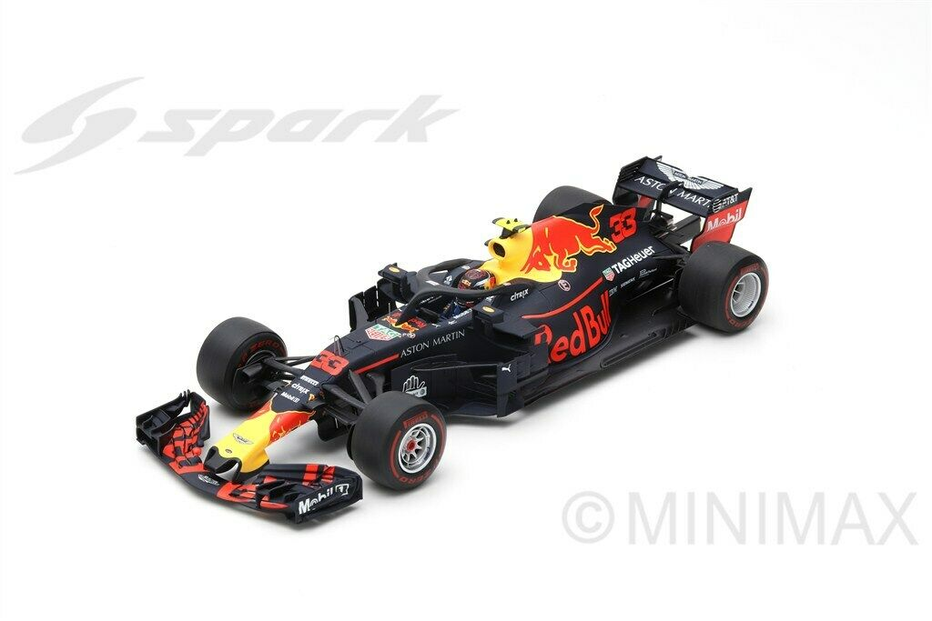 Spark 18S354, rouge BULL RB14 winner Mexican GP  2018 MAX Verstappen, F1  expédition rapide