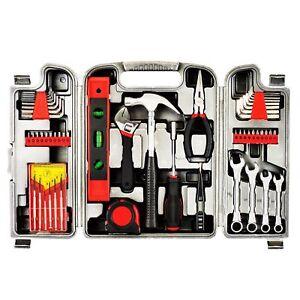Household Tool Set 53 Pieces Grey Box Kit For DIY Grey