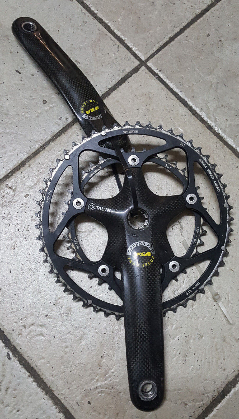 Guarnitura bici FSA Team Issue Carbon pro 53-39 172.5 Crankset Bike carbonio