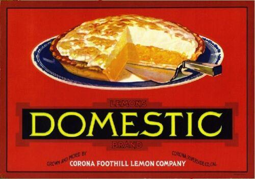 Corona Domestic Lemon Citrus Fruit Crate Label Print