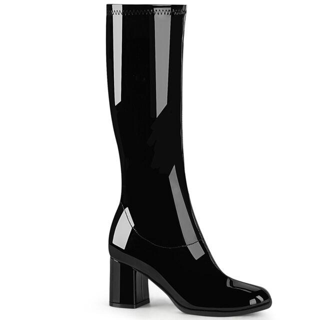 Funtasma GOGO-300WC 3 Inch Block Heel Wide Steel Toe Boot