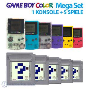 GameBoy-Color-MegaSet-Konsole-Farbe-nach-Wahl-5-Spiele