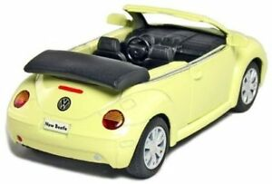 New-5-034-Volkswagen-New-Beetle-Convertible-1-32-diecast-model-toy-car-vw-Yellow