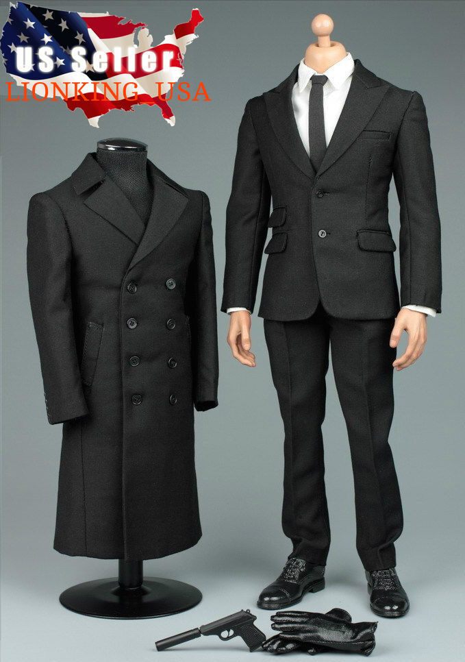 1  6 James Bond 007 Agent Coat Suit Set For 12  Phicen Hot Toys Male Figure ❶USA❶  voici la dernière