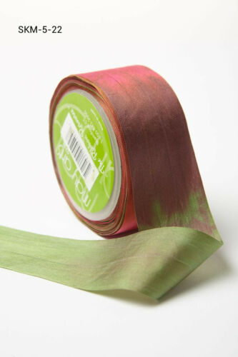 Dip-Dyed 32mm 100/% Silk Ribbon by May Arts price per metre or by the roll