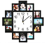 12 Photoes  Photo Frame  with  Wall Clock 2 In 1
