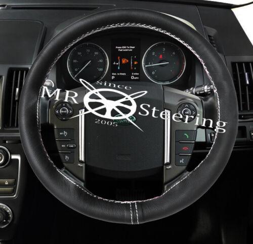 Pour Land Rover Discovery LR3 04-09 Volant en cuir couverture blanc 2 Stitch