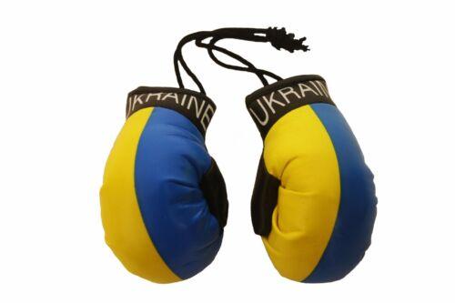 NEUF L/'Ukraine Plain pays drapeau Mini Gants De Boxe..