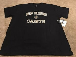 new style e6430 66e86 Details about New Orleans Saints Big & Tall Majestic Heart & Soul Tee  Shirt, Size 4XL - NWT