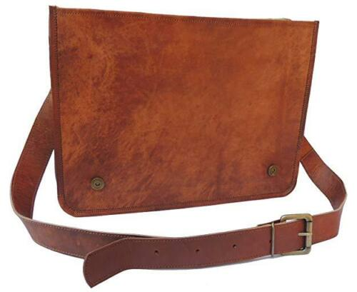 High Quality Vintage Leather Men Messenger Laptop Bag Crossbody Men/'s Travel Bag