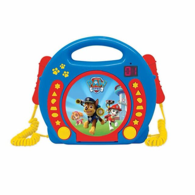 PAW PATROL LEXIBOOK CD PLAYER WITH MICROPHONES + HANDLE GIRLS BOYS
