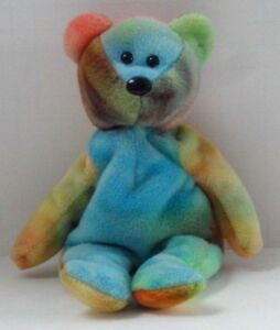 TY GARCIA the TY-DYED BEAR BEANIE BABY - NO HANG TAG - SEE PICS  1 ... 889d1444cd42
