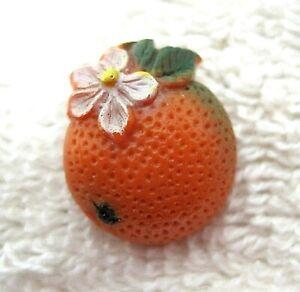 Colorful-Orange-w-Blossom-Buttons-Button-Plastic-5-8-x-3-4-Inchs-A44