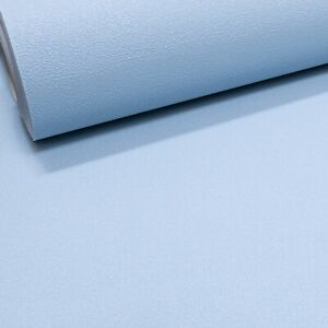 Plain Light Sky Matt Blue Textured Vinyl Thick Quality Wallpaper Paste the Wall