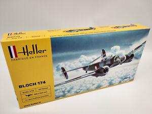 Avion-Bloch-174-Maquette-a-monter-Heller-France-echelle-1-72
