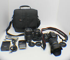 Canon EOS Rebel T3i 600D 18.0MP Digital SLR Camera Black Kit 18-55,55-250,18-135
