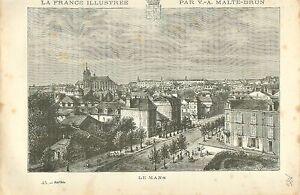 LE-MANS-SARTHE-FRANCE-GRAVURE-ANTIQUE-OLD-PRINT-1882