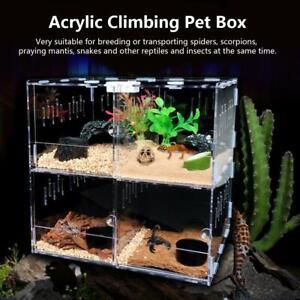 Acrylic Reptile Terrarium Gecko Lizard Snake Spider Vivarium Cage Tank Th Calc Ebay