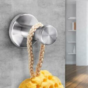 Brushed-Bathroom-Stainless-Steel-Towel-Hook-Wall-Mount-Robe-Coat-Hangers