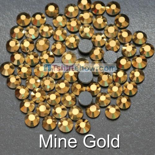 Mine gold-tss vrac gros Hotfix Iron On strass dos plat qualité premium
