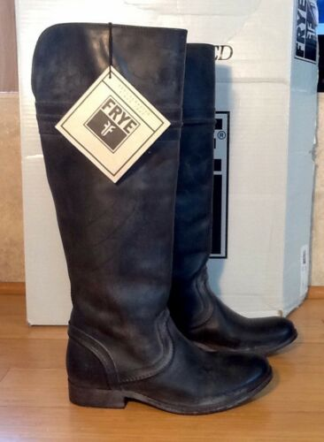 FRYE 'MELISSA TRAPUNTO' LEATHER BOOTS WOMENS SIZE