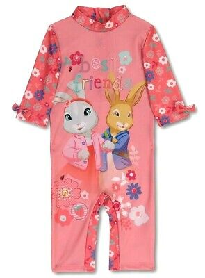 UV Sunsuit Protective Swimsuit BNWT Baby Girls PETER RABBIT Pink Sunsafe UPF40