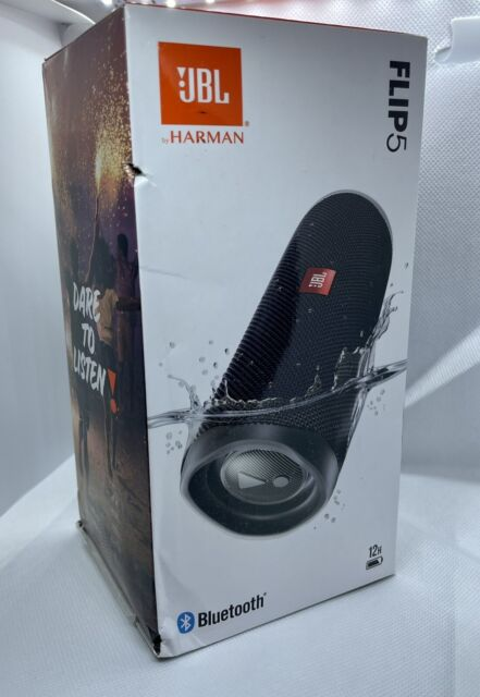 Brand New Original JBL Flip 5 Black Portable Bluetooth Speaker