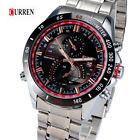 Curren acero Reloj hombre deportivo con bisel con horas del mundo día en el dial