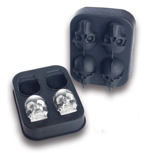 Halloween Skull Shape 3D Ice Cube Mold Maker Bar Party Silicone Trays Mould Gift
