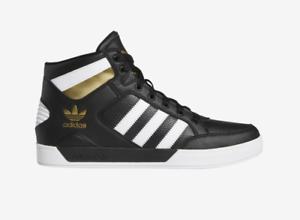 Détails sur New Hommes Adidas Originals Hardcourt HI FV5327 NoirBlancOr Métallique Chaussures c1 afficher le titre d'origine