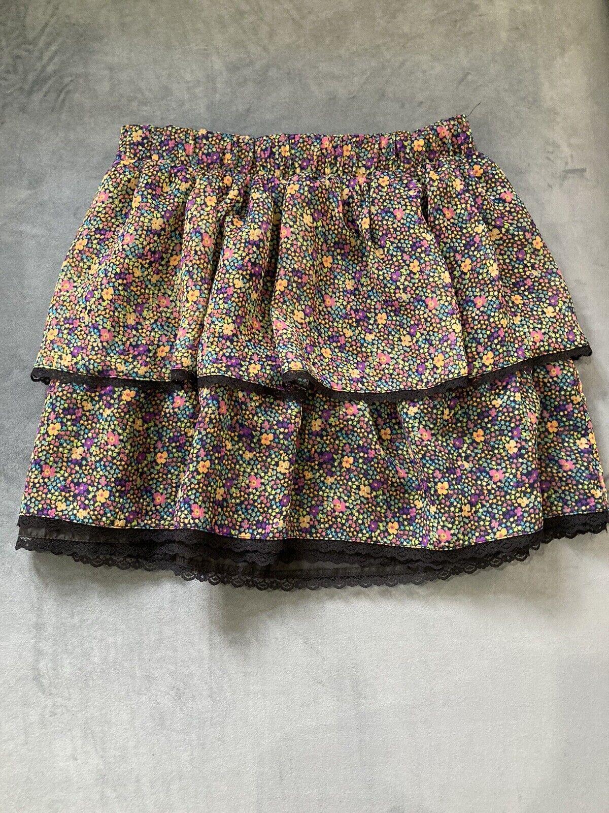 Delias Floral Fairycore Grunge Skirt Medium - image 1