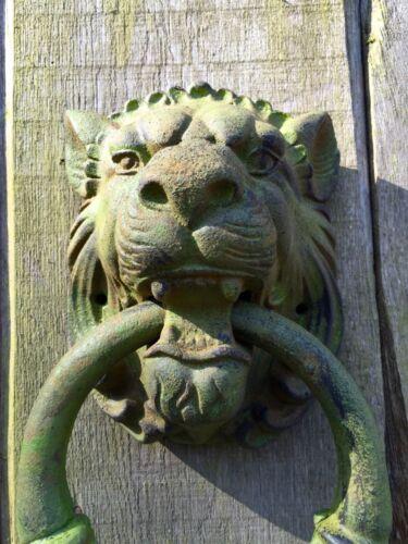Türklopfer Gartentor, großer Löwe, Tor oder Tür-Dekoration, wie antik- aus Eisen