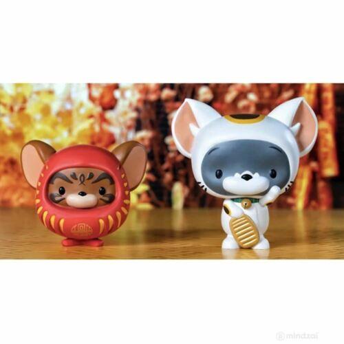 Maneki-Neko and Daruma Set by ToyQube Chibi Tom and Jerry