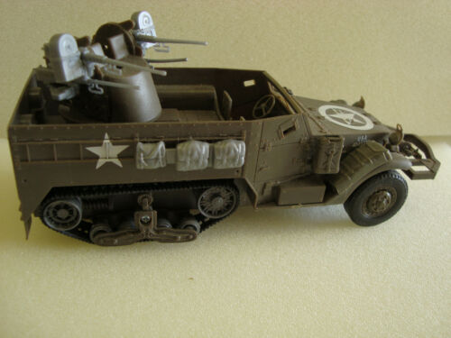 Newray 132 SCALE ARMY M16 AA Half Track For LGB, USA, Bachmann Flat Car Load