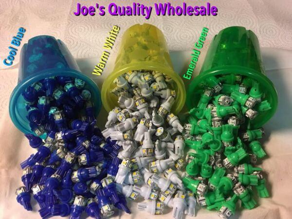 (10) 8v-wedge Led Lamps/white-blue-green/vintage Receiver Mc2500-mc7270/mcintosh Elegant In Geur