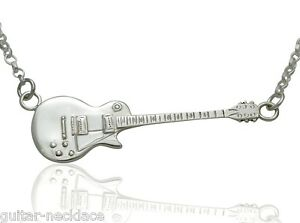 Mens Sterling Silver Gibson Les Paul Miniature Electric Guitar
