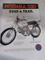 Vintage Hodaka 250 Road And Trail Dealers Sale Lit Mint Perfect