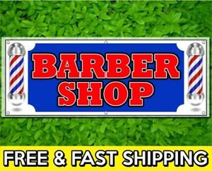 Barber 13 oz Heavy Duty Vinyl Banner with Grommets