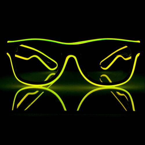 Yellow Details about  /Euphorium Neon LED Glasses El Wire Rave EDM Midnight Mafia Paradigm AUS