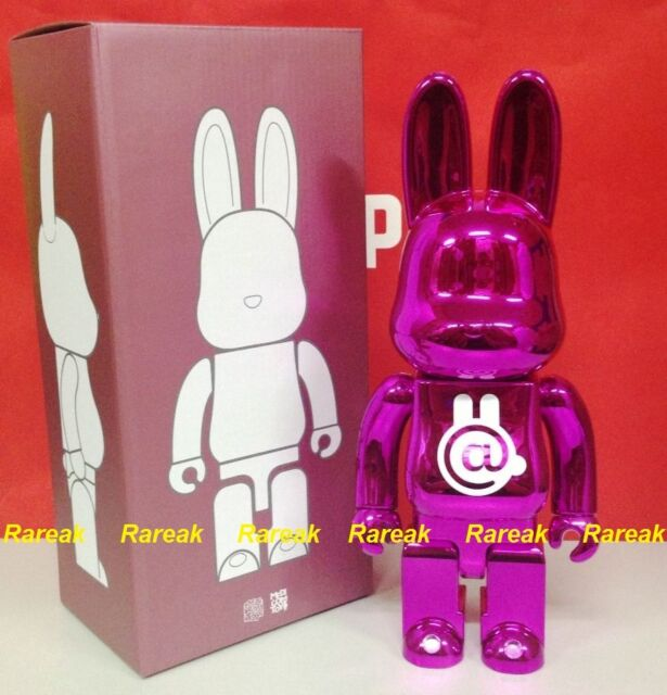 14f5907c Medicom Be@rbrick Project Rabbit 400% Rabbrick Chrome Pink Bearbrick  R@bbrick