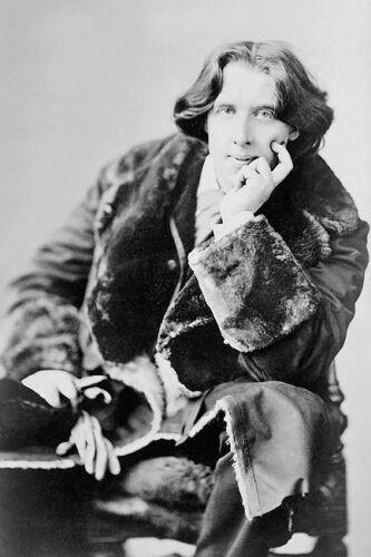OSCAR WILDE SEATED SARONY PORTRAIT 1882 12x18 SILVER HALIDE PHOTO PRINT