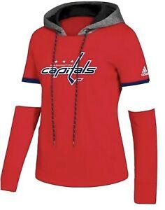 Adidas Women's Washington Capitals NHL Platinum Crewdie Hoodie SIZE Large L NWT
