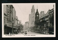 Australia MELBOURNE Collins St The Block Rose Series c1930/40s? RP PPC used