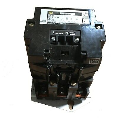 SQUARE D CONTACTOR CLASS 8910 TYPE DPA4Z 8910DPA4Z 120V COIL