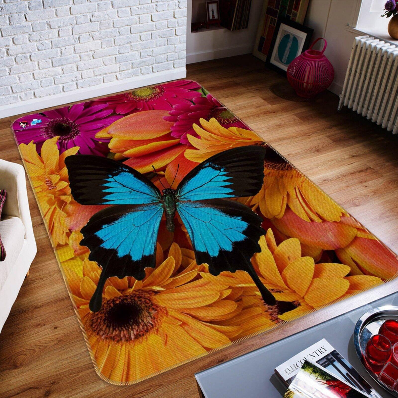 3D Farfalla 171 Pavimento Antiscivolo Tappeti Elegante Tappeto IT Summer
