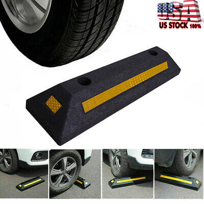 "22/"" Rubber Curb Parking Block Car RV Trailer Wheel Tire Stopper Garage Driveway"